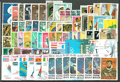 GUINEA Republic + Bissau varied group66  stamps o from upgiven collections