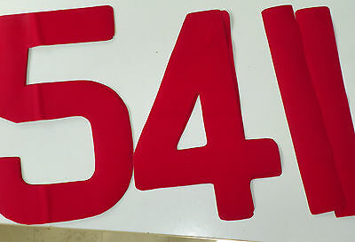 Sail Numbers Self Adhesive All Sizes 8 Colours 1st CLASS POST Dinghy & Keelboat