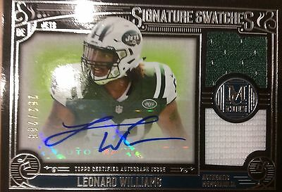 LEONARD WILLIAMS 2015 Topps Museum Collection Auto Dual Relic /255 (Leonard Collection)