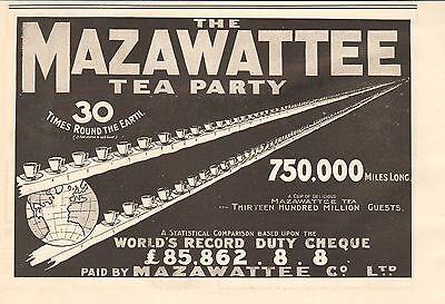 1900 ANTIQUE PRINT- BOER WAR-ADVERT- MAZAWATTEE TEA PARTY