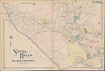 1881 E. ROBINSON, SHORT HILLS, MILLBURN TOWNSHIP NEW JERSEY, COPY PLAT ATLAS MAP