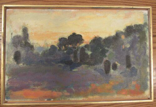 "Изображение товара Vintage impressionist/abstract landscape oil painting on canvas 10x16""/framed"