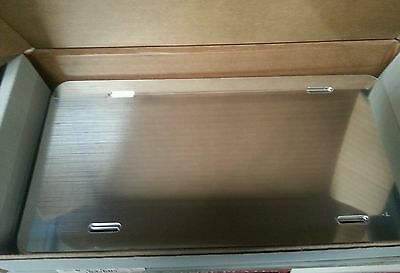 Box Of 25 Mirror Aluminum License Plate Tag Blanks .040