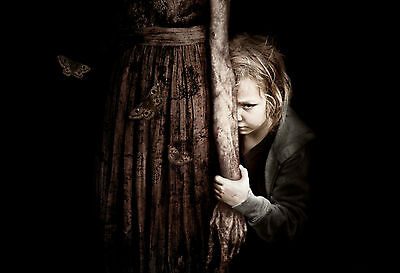 Framed Print - Freaky Girl Standing with Mother's Corpse (Picture Horror Gothic) ()