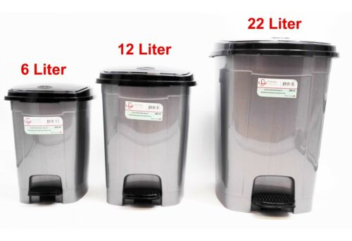 Pedal Dustbin Trash Can For Toilet Kitchen Living Room, 22/12/6 Liter