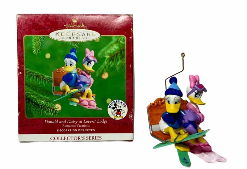 Hallmark Collector's Series Ornament, Donald & Daisy At Lovers Lodge 3 In Series