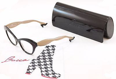 Authentic Face A Face Bocca 3 2059 Eyeglasses Black Cream Beige Italy Hand (Made Glasses)