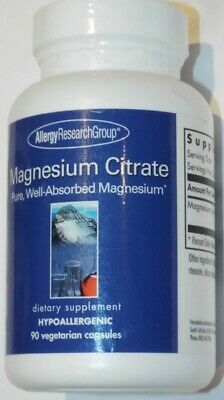 Allergy Research Group Magnesium Citrate Dietary Supplement - 120 Capsules Allergy Research Group Magnesium
