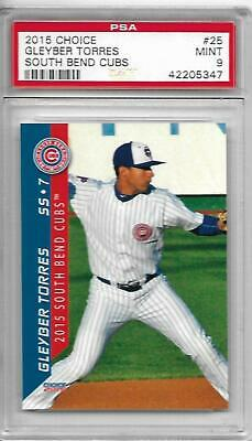 2015 Choice PSA 9 MINT GLEYBER TORRES RC South Bend Cubs NY YANKEES Rookie -