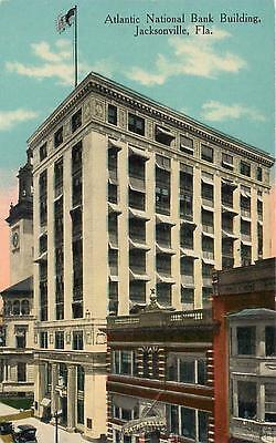 Jacksonville  Florida  Fl   Atlantic National Bank Building  Ca 1910S   Postcard