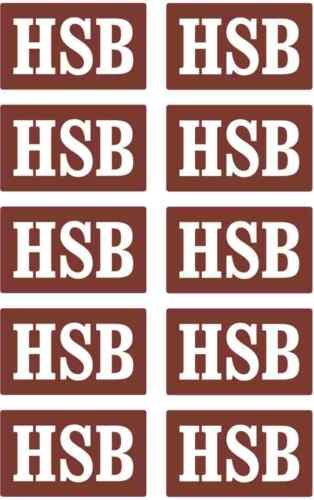 10teil Stickers Set Braun Hsb Harz Narrow Gauge Railroad Piko LGB G 002