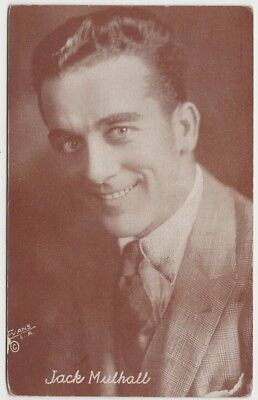 Jack Mulhall 1920s Divided Back Postcard - Brown Exhibit Arcade Card Style