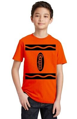 Funny Crayon Halloween Team Costume Youth T-shirt Party Tee Costume Youth T-shirt