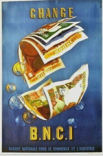 Original vintage poster CHANGE COMMERCIAL & INDUSTRIAL BANK c.1955