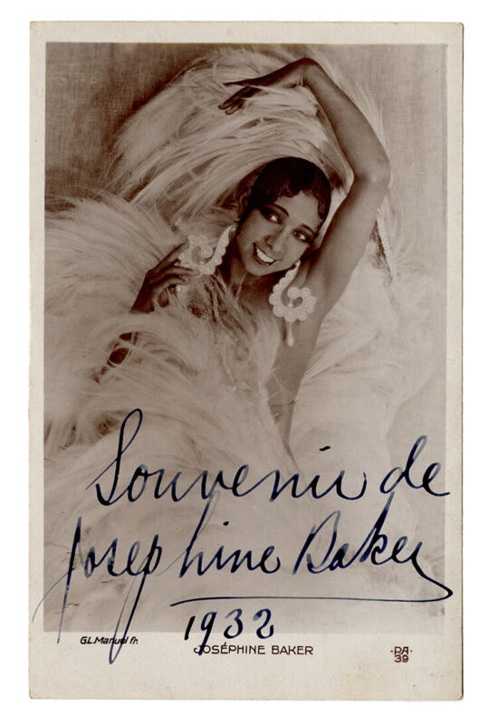 Josephine BAKER (Jazz): Signed Postcard Photograph