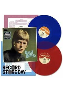 DAVID BOWIE 'DAVID BOWIE RECORD STORE DAY RSD 2018 BLUE & RED VINYL LP NEW