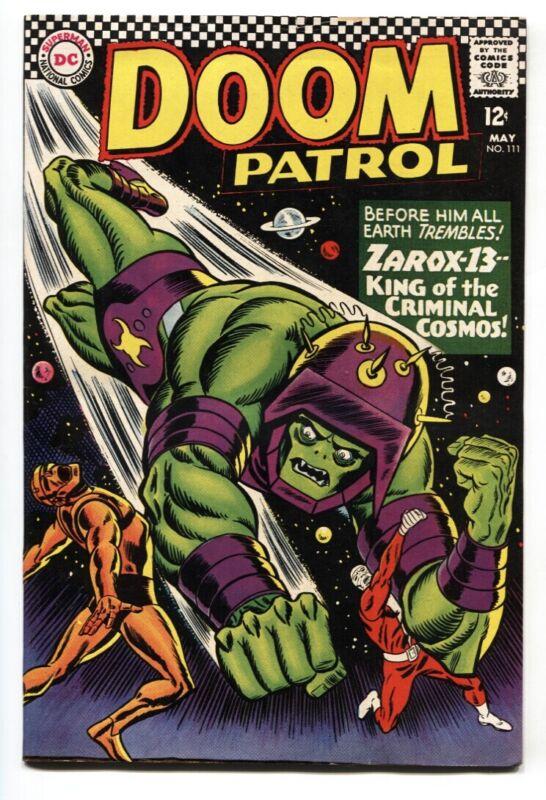 DOOM PATROL #111 1967 DC Comic Book great cover!
