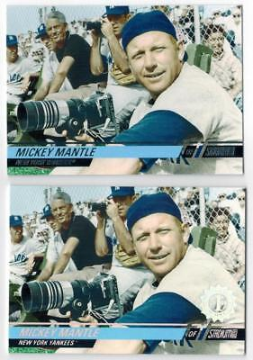 Issue Mickey Mantle - 2008 Stadium Club #92 Mickey Mantle 1st Day Issue /599 & Base Lot Baseball Cards