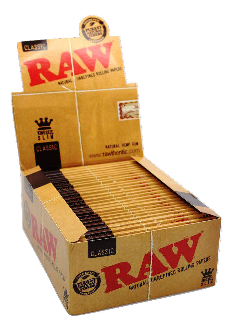 Authentic Raw Classic King Size Natural Rolling Smoking