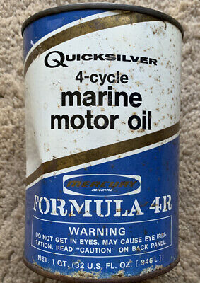 Vintage QUICKSILVER 4-cycle Marine Motor Oil Can