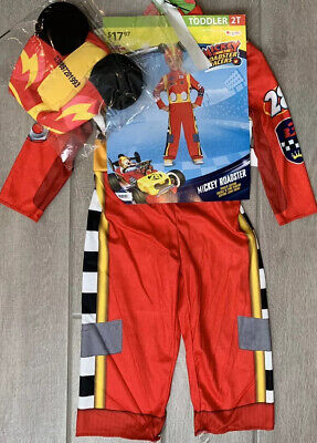 2t Mickey Mouse Costume (NEW Disney junior Mickey Mouse Roadster Racer Toddler Boys' Costume Size)