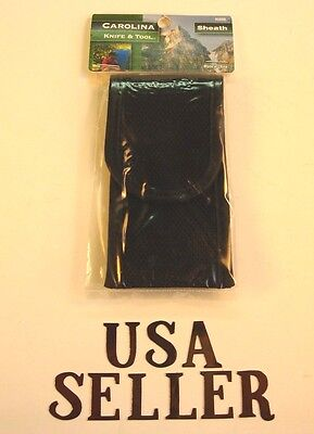 Knife sheath black cordura pouch case holder holds most knives up to 4 in.close