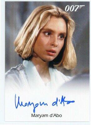 2016 James Bond Archives Spectre Edition Maryam D'Abo Autograph LIMITED