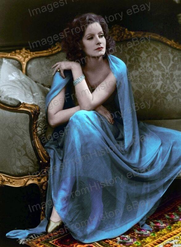 8x10 Print Greta Garbo Beautiful Color Portrait #GGEF