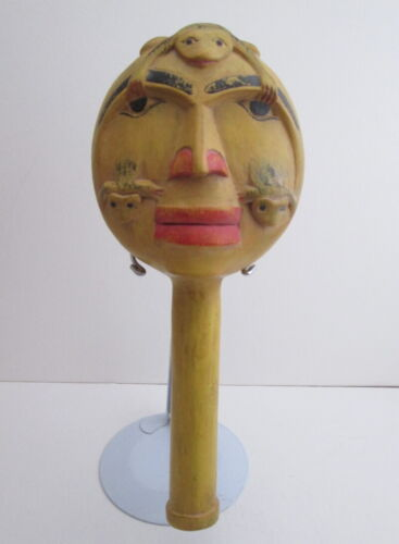 RARE PACIFIC NORTHWEST WOOD RATTLE: T
