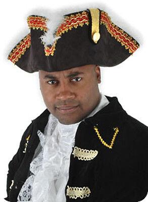 Gov'nah Pirate Captain Hat Govnah Adult Halloween Costume Accessory - Captain Hat Halloween