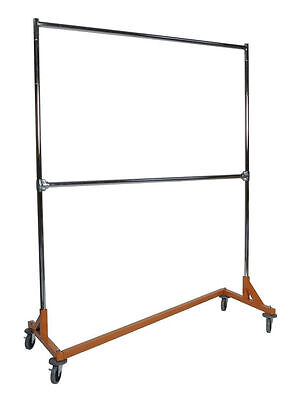 Heavy Duty Commercial Double Rail Rolling Z Rack