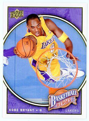 KOBE BRYANT 2008-09 Upper Deck UD Basketball Heroes Insert #3 Lakers MVP HOF Kobe Bryant 2008 Mvp Basketball