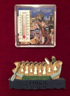 Lot Of Two(2) Las Vegas Souvenir Fridge Magnets One Is Thermometer!