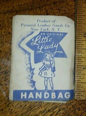 Vintage Pocketbook Mirror Little Lady Handbag Pyramid Leather New York