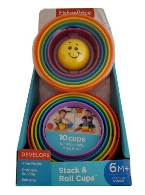 Fisher Price Brilliant Basics Stack and Roll Cups with