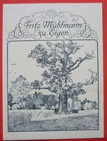 Exlibris, Ex Libris ,fritz Uomo Del Laminatoio, Paesaggio, Albero -  - ebay.it