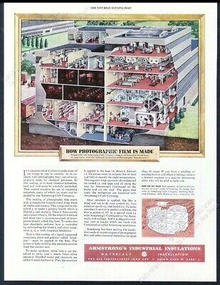 1948 photo photographic film factory diagram art Armstrong vintage print ad