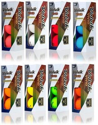 Volvik Vivid Matte Finish Golf Balls  1 Sleeve  New 2018   Choose Color