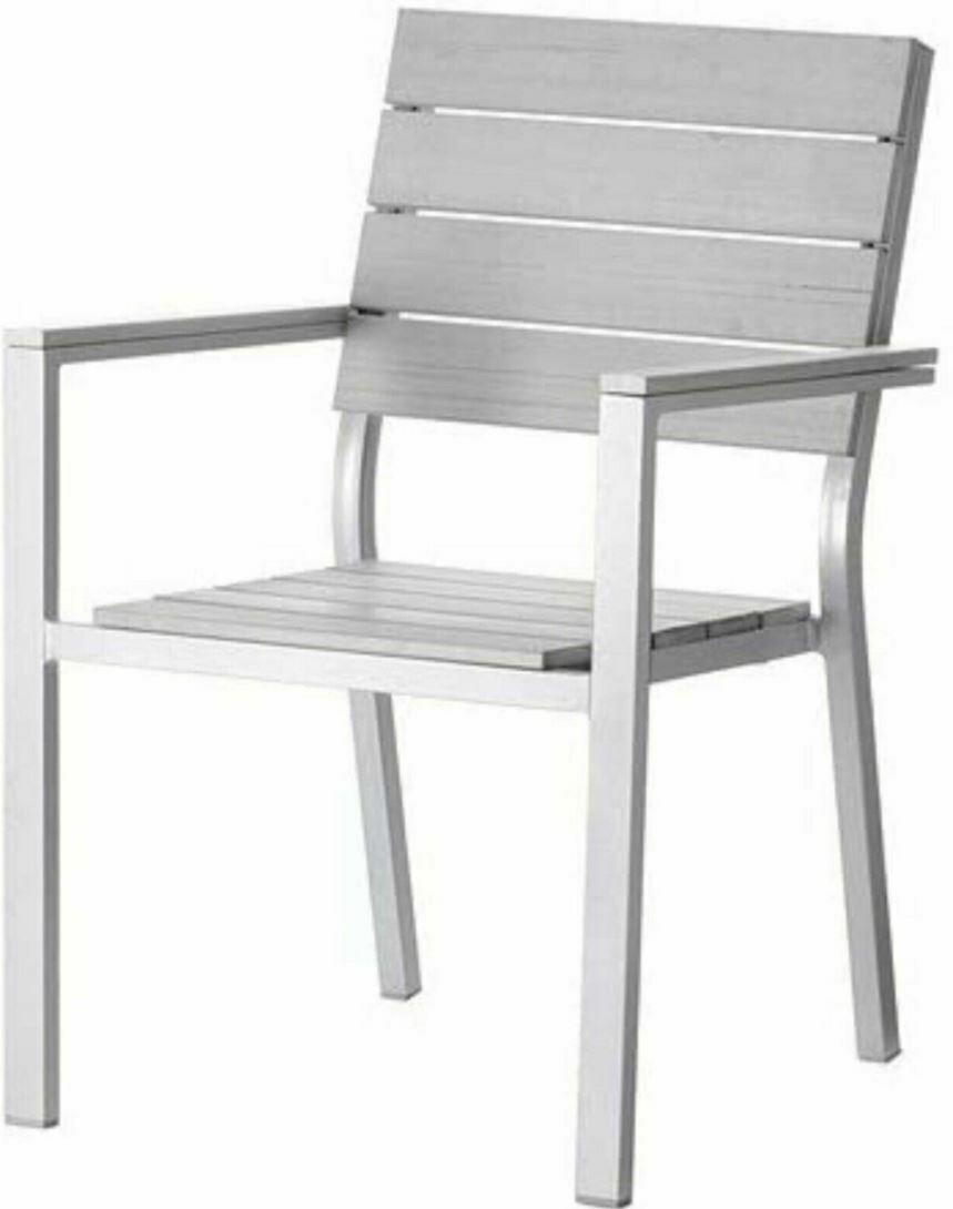 Ikea Falster Gartenstuhl Ersatzbrett Grau - 1 Ersatzbrett für die Sitzfläche
