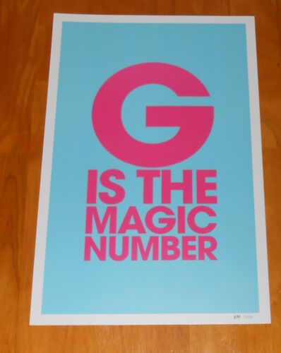 The Gorillaz G is the Magic Number Poster 2018 Promo 11x17 Numbered RARE