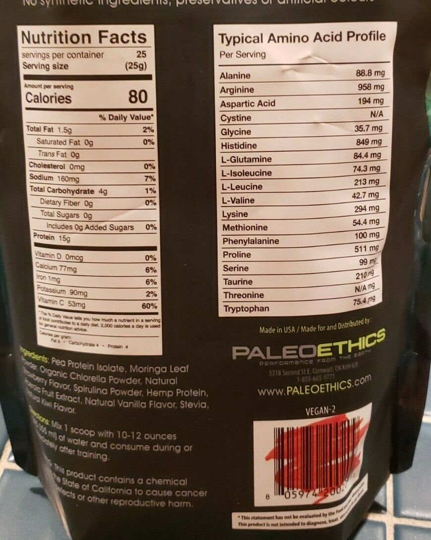 Paleoethics - Ultimate VEGAN PROTEIN - Natural Berry - 1.35 lbs - Exp 9/2021 7