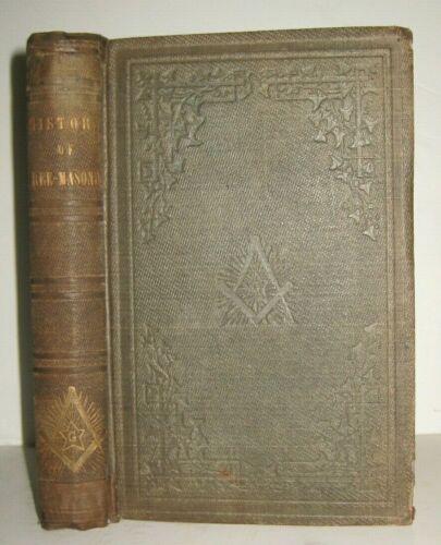 X RARE ✅ 1854_PHILOSOPHICAL HISTORY OF FREEMASONRY_KNIGHT TEMPLARS_EGYPT_GREECE
