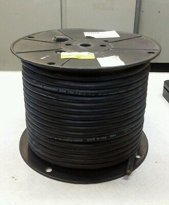 Carol 02765.15.01 163 600v Type Sow Black 250ft Electrical Cable New