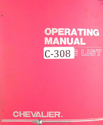 Chevalier Fsg Series Surface Grinder Operations And Maintenance Manual 1960