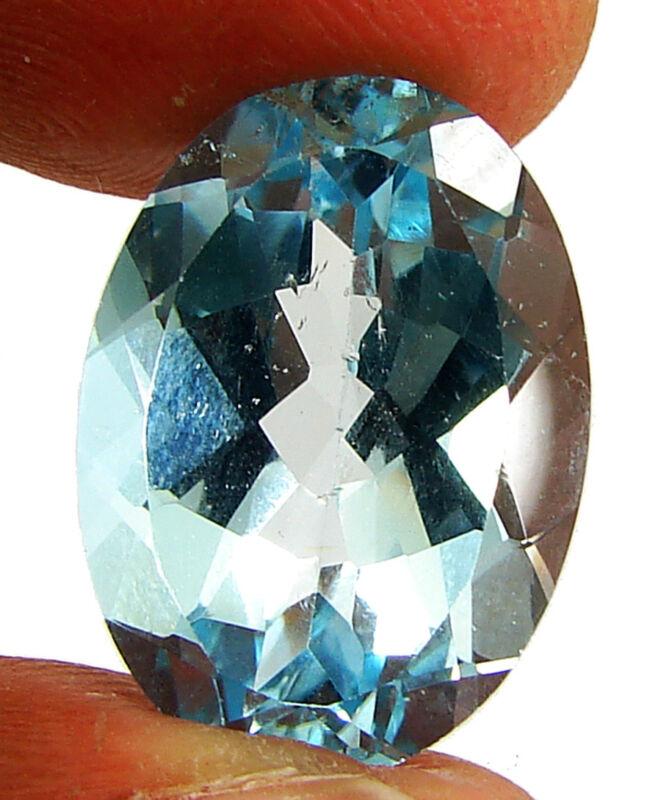 15.30 Ct Certified Natural Blue Topaz Loose Gemstone Oval Cut Fine Stone- 133779