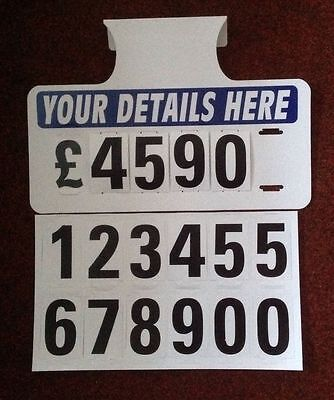5 X Personalised Visor Price Sets, Car For Sale Signs, Boards, Sale Signs, Cars
