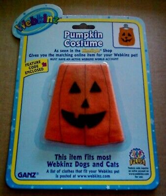 WEBKINZ ~ Pumpkin Costume Outfit ~ Clothing with Online Code ~ GANZ ~ NEW