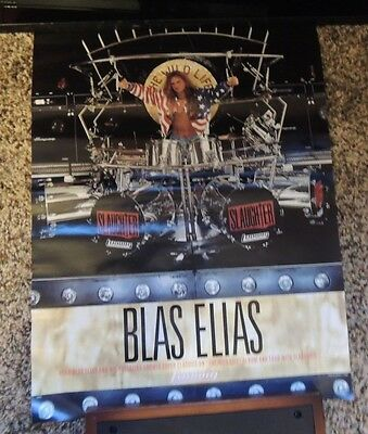 "Blas Elias Slaughter and Ludwig Drums vintage poster 17""x22"""