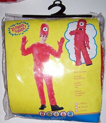 NWT Yo Gabba Gabba! - Muno Adult Costume Men Large 46-48 Halloween - Adult Yo Gabba Gabba Costumes
