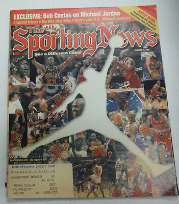 The Sporting News Magazine Bob Costas   Michael Jordan January 1999 081315R2